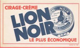 BUVARD LION NOIR IMPRIME EN BLEU CIRAGE CREME POUR CHAUSSURE PARIS MONTROUGE - L