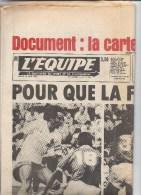 L´équipe 24 Juin1982 Football Mondial  Platini France Tchecoslovaquie  - Carte Tour De France - 1950 - Heute