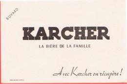 BUVARD KARCHER LA BIERE DE LA FAMILLE - Buvards, Protège-cahiers Illustrés