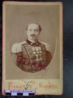 Photo Format Cabinet D´un Militaire Italien Médaillé (ITALIA) - Italie