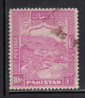 Pakistan Used Scott #41 10r Khyber Pass Perf 13 - Pakistan