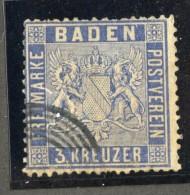 GS715  Baden 1860  Michel #10a (o) Scott #12a  Offers Welcome! - Bade