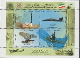 RO) 2010 PERSIA, ROCKET PLANE ULTRASONIC, RADAR, UNDERWATER, PRODUCTS OF MINISTRY OF DEFENSE, SOUVENIR MNH - Iran