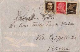 AEROGRAMMA FRANCHIGIA POSTA MILITARE 106 1941 ELBASAN ALBANIA X VERONA - Militärpost (MP)