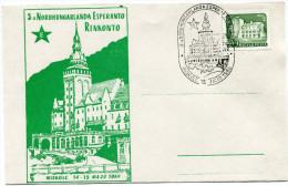 HONGRIE THEME ESPERANTO CARTE AVEC VIGNETTE OBLITERATION 3a NORDHUNGARLANDA ESPERANTO...............MISKOLO 15 MAJO 1960 - Esperanto