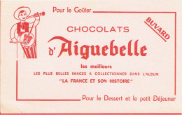 BUVARD CHOCOLAT AIGUEBELLE ALBUM LA FRANCE ET SON HISTOIRE - Chocolat