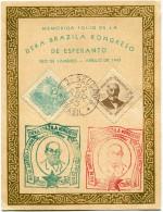 BRESIL THEME ESPERANTO CARTE N°1776.......DEKA BRAZILA KONGRESO DE ESPERANTO RIO DE JANEIRO - APRILO DE 1945 - Esperanto