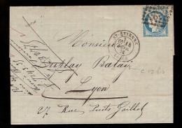 France & St. Etienne ; Loure; Lyon 1876 (1) - 1870 Emission De Bordeaux