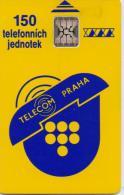 CZECHOSLOVAKIA CHIP PHONECARD TELECOM PRAHA 150 UNITS -USED