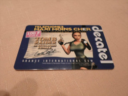 FRANCE - RARE Prepaid Phonecard As On Photo Tomb Raider Lara Croft - Prepaid Cards: Other