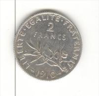 2 Francs Semeuse France 1910 Argent / silver