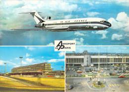 Aviation > Avions-  AEROPORT DE PARIS (A) Avion Boeing 727 AIR FRANCE Les Aérogares D'Orly Sud Et Du Bourget *PRIX FIXE - Aeródromos