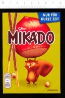 MIKADO Bâtons Chocolatés / Ecureuil Avec Une Noisette / Noisettes Fruit / Squirrel And Hazelnut  //  CP 01/100 - Old Paper