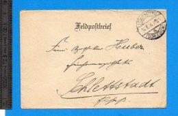 Feldpostbrief 1916 Lowenberg - Deutschland