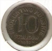 MONEDA DE POLONIA DE 10 FENIGOW DEL AÑO 1917  (COIN) - Polonia