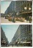 LYON 69002 ( 2 ° ) COMMERCES - Rue De La République : Rue Piétonne Terrasse Café - Petit Lot De 2 CPSM CPM GF - Rhône - Lyon 2