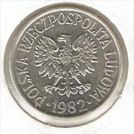 MONEDA DE POLONIA DE 50 GROSZY DEL AÑO 1982  (COIN) - Polonia