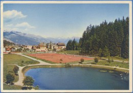 SUISSE / SWITZERLAND : MONTANA - Le Tennis Et Le Stade Y-Coor - VS Valais