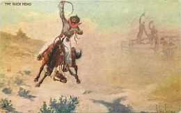 237063-John Innes, WG MacFarlane Ranching Series, The Buck Hero, Cowboy Riding Horse - Altre Illustrazioni