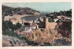 España-Gerona--1958--Tossa De Mar--Castillo Y Murallas Y Cala Codolar--Coloreada--a, Toulouse, Francia - Castillos