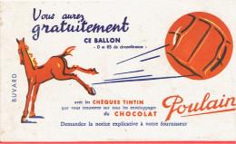 BUVARD CHOCOLAT POULAIN AVEC LES CHEQUES TINTIN - Chocolat
