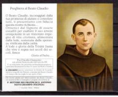 DG120      SANTINO PIEGHEVOLE - BEATO CLAUDIO GRANZOTTO - FRANCESCANO - Religione & Esoterismo