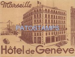 5488 FRANCE MARSEILLE HOTEL DE GENEVE LUGGAGE NO POSTAL POSTCARD - Frankreich