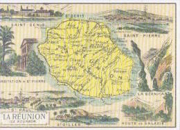 Reproduction D'une Ancienne Publicité D'époque 1900 La Réunion Ile Bourbon - La Réunion