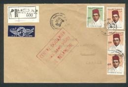 Lettre De Casablanca Pour Montbéliard- Centre Douanier De Besançon - Admis Sans Visite - Recommandée - Morocco (1956-...)