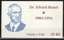 Czech Republic.1994 Booklet,carnet.Dr.Edvard Benesh. - Czech Republic