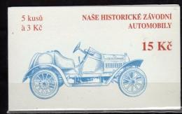 Czech Republic. Booklet,carnet.history Of Cars - Czech Republic