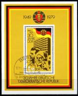 DDR - Michel Block 56 = 2462 - OO Gestempelt (B) - 30 Jahre DDR - [6] Oost-Duitsland