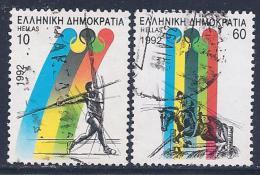 Greece, Scott # 1728-9 Used Summer Olympics, 1992 - Greece