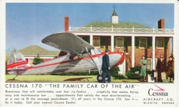 Cessna 170 Advertisement, Wichita Kansas Private Airplane Company, C1950s Vintage Postcard - 1946-....: Moderne