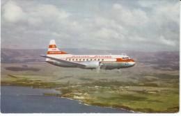 Hawaiian Airlines Convair 340 Propeller Plane Over Fort Allen Kauai Hawaii, C1950s Vintage Postcard - 1946-....: Moderne