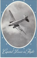 Pennsylvania-Central Airlines Douglas Propeller Airplane, C1940s/50s Vintage Postcard - 1946-....: Era Moderna