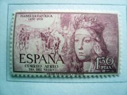 Spagna - Espana - 1951 - Correo Aereo - Isabel La Catolica - 90 Cts 90c - * - 1931-Oggi: 2. Rep. - ... Juan Carlos I
