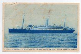RMSP Arlanza Royal Mail Steamer Ship Boat  Ca1900 Vintage Original Postcard Cpa Ak (W4_814) - Paquebots