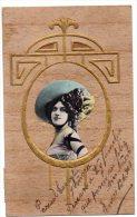 Artist Opera Stage In Wodden Art Nouveau Background Stunning Embossed Ca1900 Vintage Original Postcard Cpa Ak (W4_820) - Vrouwen
