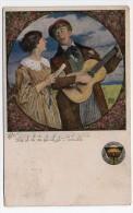 Couple Guitar Germany Josef Eberle  Illustrator Artist Drawn Ca1900 Vintage Original Postcard Cpa Ak (W4_824) - Zonder Classificatie
