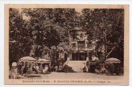 Edward's Park Hotel St. Martin Vesubie Alpes  Ca1900 Vintage Original Postcard Cpa Ak (W4_829) - Hotel's & Restaurants