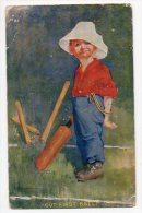 "Illustrateur ""OUR FIRST BALL"" Criket Sports UK   Ca1900 Vintage Original Postcard Cpa Ak (W4_832) - Illustratoren & Fotografen"