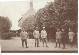Guerre 1914-18 - Mai 1916 - Ferme Orphelinat De Rouvroy-les-Merles - Oise - Groupe D'Officier Français - War, Military