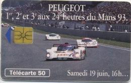 FRANCE - PEUGEOT AU MANS 93 - 50 U - France
