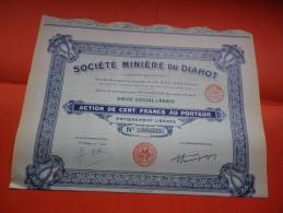 MINIERE DU DIAHOT (100 Francs) - Azioni & Titoli
