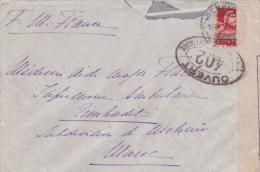 """1917 Lettre De Suisse Mention """"FM EN FRANCE"""" > Maroc  + """"TRESOR ET POSTES MEKNES"""" Au Verso + CENSURE DE BOURG Ain - Suiza"""