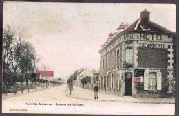 PONT - SAINTE - MAXENCE . Avenue De La Gare . Hôtel Du Chemin De Fer . - Pont Sainte Maxence