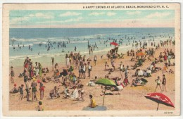 A Happy Crowd At Atlantic Beach, Morehead City, N.C. - 1937 - Etats-Unis