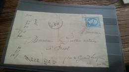 LOT 249597 TIMBRE DE FRANCE OBLITERE MARQUE POSTALE