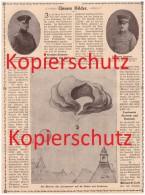 Original Zeitungsbericht - 1908 - Luftschiff - Absturz In Berlin Friedenau , Conqueror  !!! - Historische Dokumente